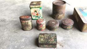 各種各樣的鐵盒完整無修正常使用包老