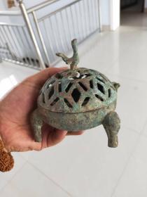 銅熏爐 收來的一個老銅器 古玩藝術品老物收藏!美觀大氣,完整無損