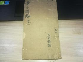 線裝古籍~科舉文獻~(童子問路)卷二