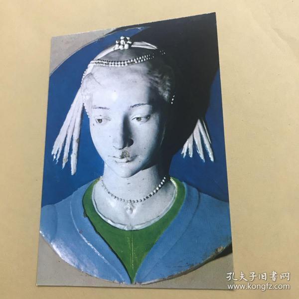 佛羅倫薩 安德烈亞·德拉·羅比亞(Andrea Della Robbia)陶瓷雕塑作品 明信片。