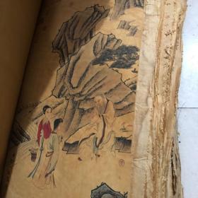 古玩杂项古画国画收藏 清乾隆年三希堂字画中堂画单个价随机发