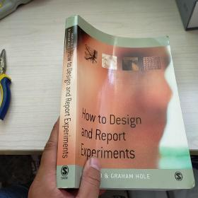 How to Design and Report Experiments  愿英文版  内页干净 实物拍图