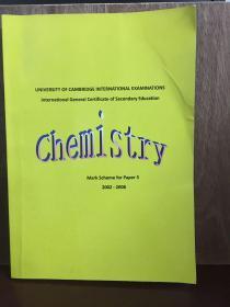 Chemistry mark scheme for paper 3 2002-2008  (UNIVERSITY OF CAMBRIDGE INTERNATIONAL EXAMINATIONS)