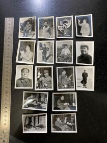 文革时期毛主席各时期老照片16张一套 品相好