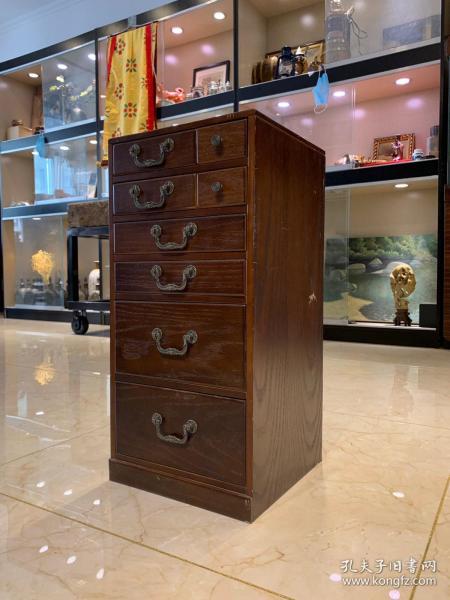 日本老貨,茶室使用的實木板材抽屜柜