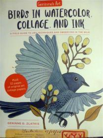 英文原版      Geninne's Art: Birds in Watercolor,Collage,and Ink      水彩画、拼贴画和水墨中的鸟