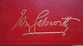 1933年John Galsworthy –The Forsyte Saga  诺奖得主高尔斯华绥代表作《福尔塞世家》全小羊羔皮精装3册 配补插图