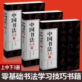 中国书法大全(上中下3册)初学者学习练习毛笔书法基础教程教学?