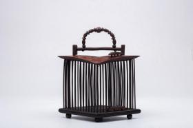 旧藏,竹雕蛐蛐笼
