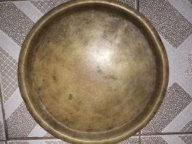 民国老铜盘