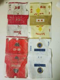 烟标(4张合售), 国营德州卷烟厂, 80年代, 16X10公分, 5品, 9元(4张)包邮