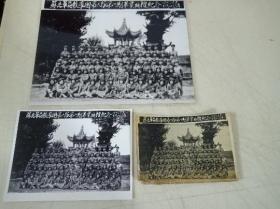 老照片苏北军区教导团第六队第一期毕业典礼纪念1950年加两张翻新照片