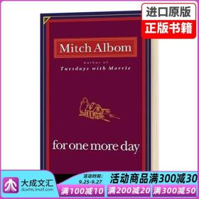 For One More Day英文原版   一日重生 米奇阿尔博姆 Mitch Albom 英文版 心灵疗愈人生哲学暖心小说 进口原版英语书籍