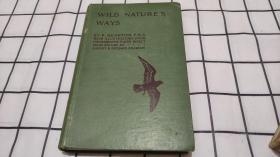 WILD NATURE'S WAYS(1914年 大32开精装本)包中通快递