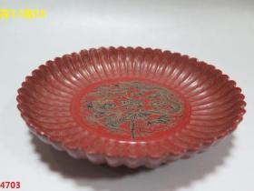 脫胎葵花金絲龍盤