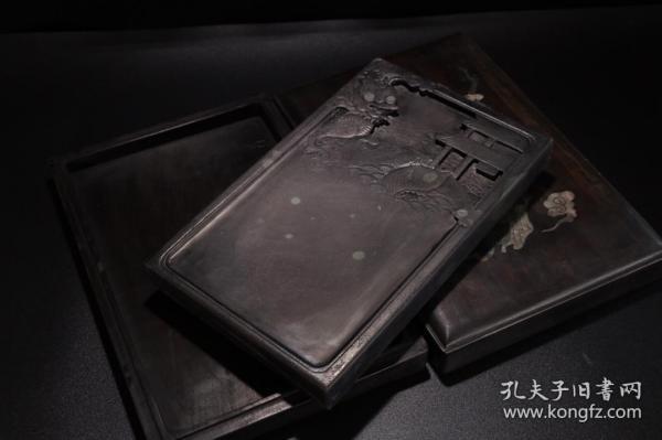 """舊藏""""魚化龍""""文房硯臺"""