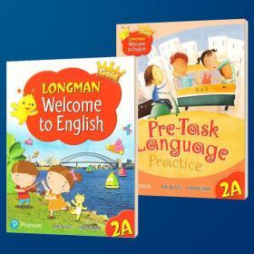 朗文小学英语2A二年级上学期教材+综合练习册 英文原版 Longman Welcome to English Gold