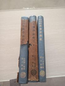 漢譯世界名著 經濟學前史 上下  +社會經濟史  3本合售 民國25年版 蘇紹智藏書 簽名本 附名片一張