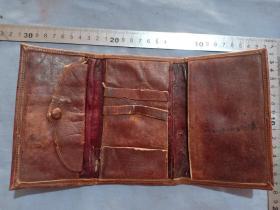 (箱15)晚清 皮制錢包,14.5*9cm