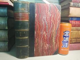 1860年   THE CORNHILL MAGAZINE   皮脊  含十几页中国内容  插图版  22.3X14CM