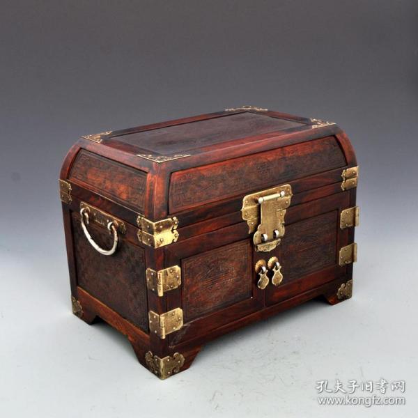 創匯紅木嫦娥奔月首飾盒