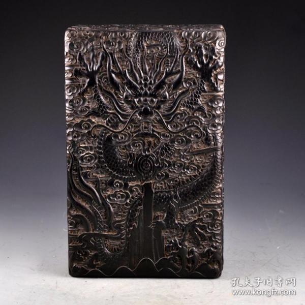 紫檀木云龍圖書盒