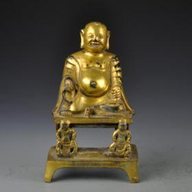紫銅鎏金藏佛
