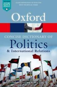 [英文]《简明牛津政治与国际关系词典》The Concise Oxford Dictionary of Politics and International Relations