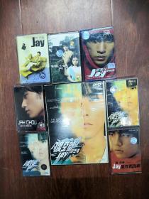 周杰伦磁带7盘加一个dvd