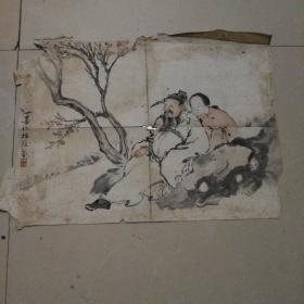 晚清 著名画家 王维翰 指画 人物