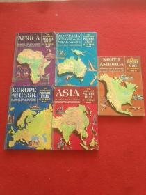the golden book picture atlas1.3.4.5.6.(5本合售)