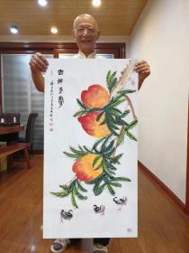 董长青,书法字画真迹客厅挂画国画字画,三尺