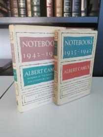 albert camus notebooks 1935-1942 1942-1951 《加缪笔记 1935~1942 1942~1951》 现代文库版 1965 年美国出版 布面精装 两册