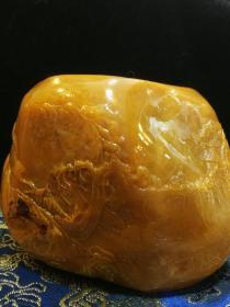 田黄原石原色