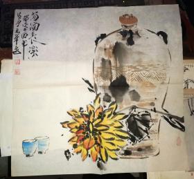 中国书画研究院二级会员 陈玉华绘         50×50厘米