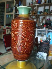 安阳龙泉瓷厂龙凤呈祥大花瓶