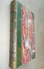 1848年- Sir Walter Scott – Peveril of the Peak 司各特名著《峰顶的佩弗里尔》3/4真皮古董书 珍贵的早期版本 钢板画扉页插图 增补插图