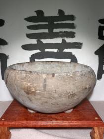 特惠 清代陶制 三足灰陶香炉 三足鼎立造型的陶香炉 本交易仅支持、邮寄