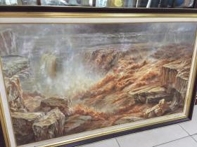 油画:壶口瀑布