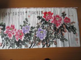 国色天香 (周仁辉  王平善  合作国画)