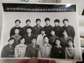 1981年苏州丝绸工学院湖北籍同学欢送77级毕业生合影老照片一张,品好包快递。