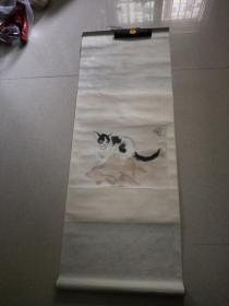 猫石图木板水印