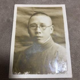 1940年巴东湖北省银行宋毓林照片一张。背面有毛笔签赠