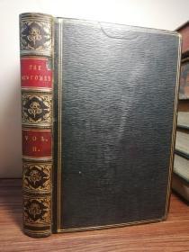 1855年  THE NEWCOMES  卷二  全皮装帧 三面书口大理石花纹  插图版    22X14.2CM  内衬花纹