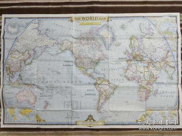 National Geographic国家地理杂志地图系列之1951年12月 The World Map 世界地图