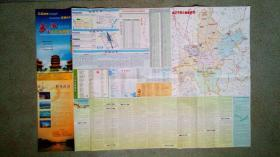 旧地图-武汉出行指南图(2010年4月1版1印)2开85品