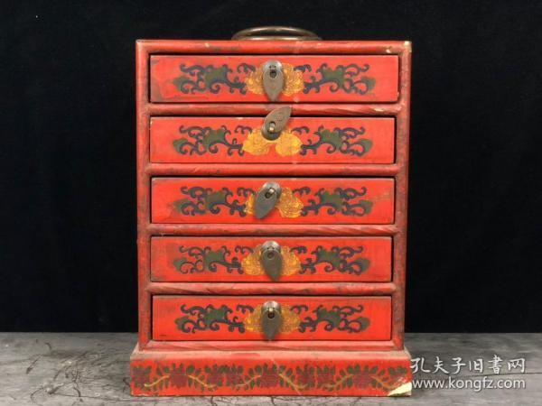 漆器小藥箱 珍寶盒