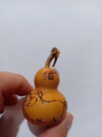 (店)葫蘆手工燙畫工藝 生肖豬葫蘆,一生平安,7*4cm