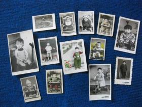 老照片:儿童照13张,其中5张上彩