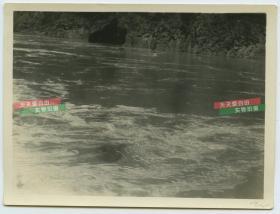 民国长江扬子江三峡水道险滩老照片,位于风X峡?